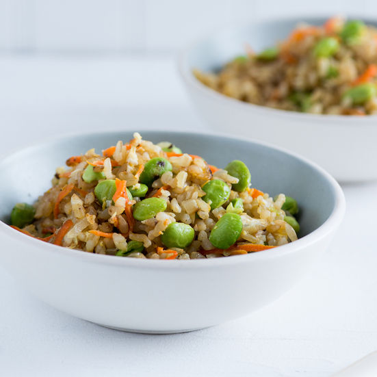 Edamame Fried Brown Rice