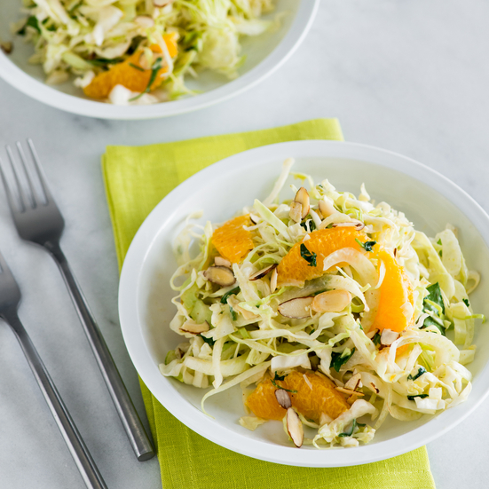 Fennel, Orange, and Cabbage Slaw