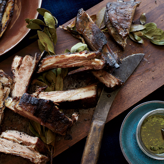 Grilled Lamb Ribs with Chimichurri