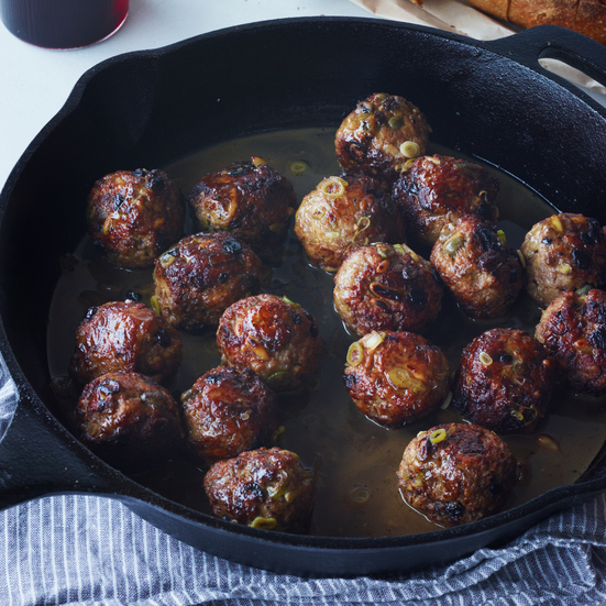 Agrodolce Meatballs
