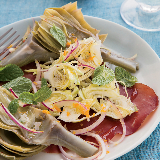 Artichokes Two Ways with Bresaola