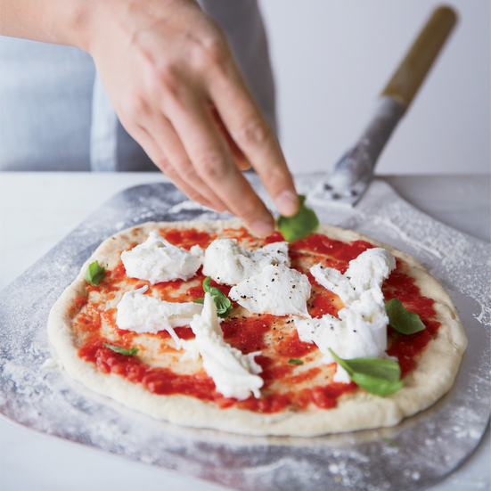 Margherita Pizza with Tomato, Mozzarella and Basil