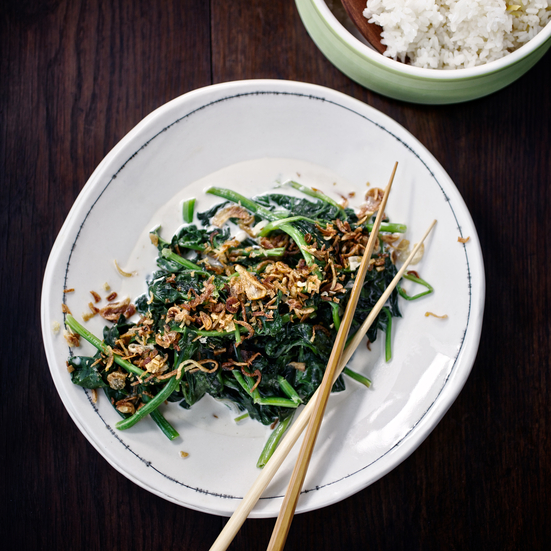 Asian Stir-Fried Spinach