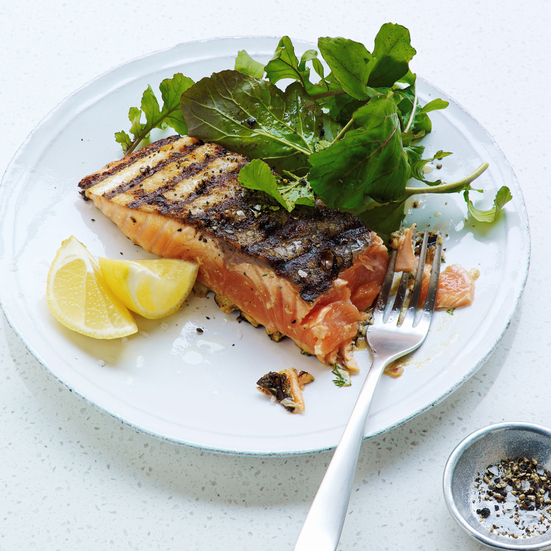 Grilled Mustard-Herb Salmon