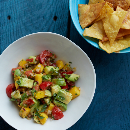 Smoked-Chile-and-Mango Guacamole