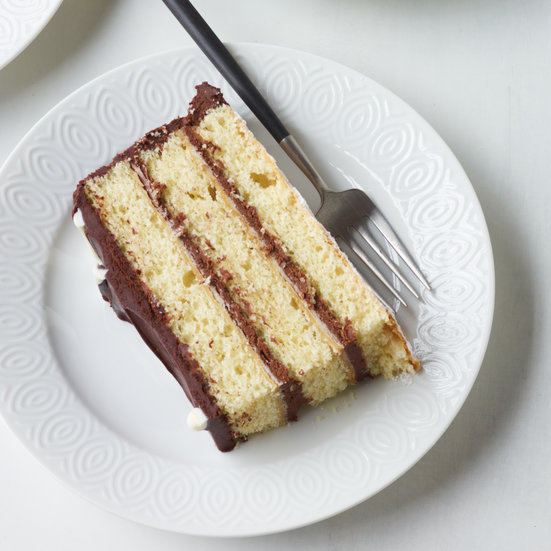 Giant Black-and-White Layer Cake