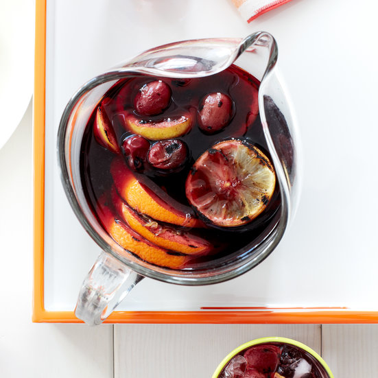Grilled Citrus and Grape Sangria