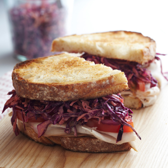 Smoked Turkey and Slaw on Country Toast