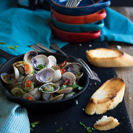 Roasted Fennel, Fresh Chiles and Clams