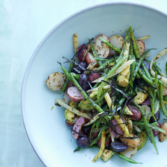 Potato & Green Bean Salad with Nori Tartare