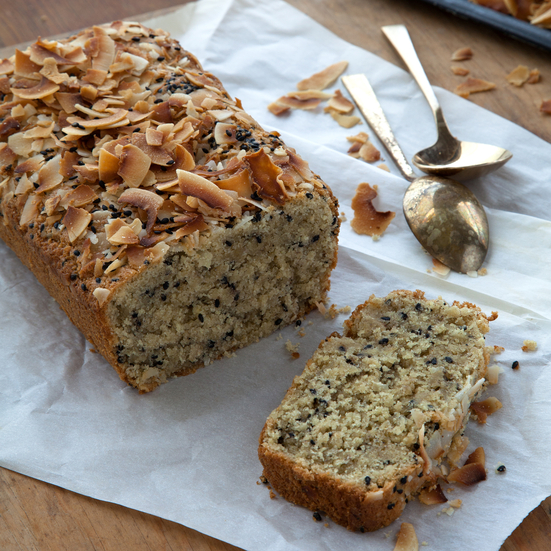 Triple Coconut–Black Sesame Quick Bread