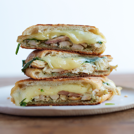 Chicken Panini with Spinach and Pesto Recipe - Jonathan Waxman | Food ...