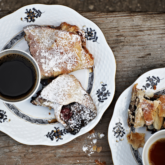 Sour Cherry and Poppy Seed Strudel
