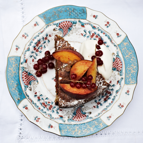 Walnut Cake with Apricot Preserves