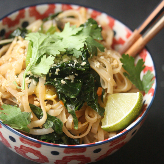 Pad Thai with Kale