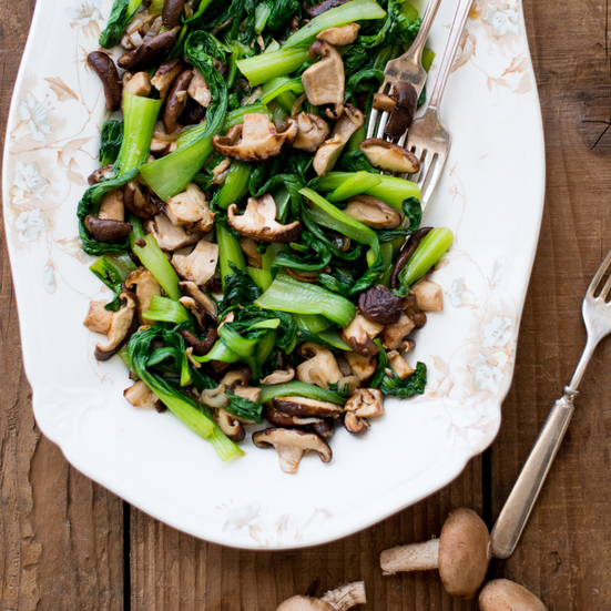 Bok Choy with Shiitake Mushrooms