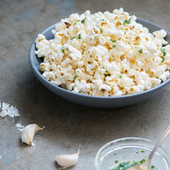 Garlic-Parsley Butter Popcorn