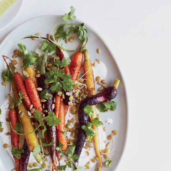 Roasted Carrots with Caraway and Coriander