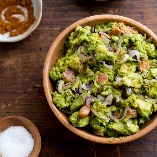 Smoky Guacamole with Charred Shallots