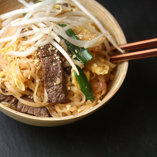 Steak-and-Eggs Pad Thai