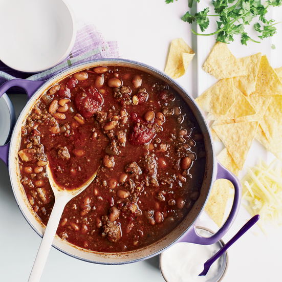 Three-Chile Beef Chili