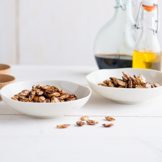 Balsamic and Black Pepper Pumpkin Seeds