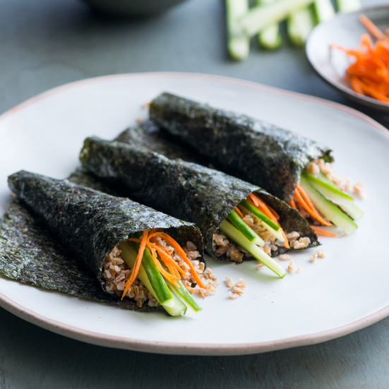 Bulgur Roasted Seaweed Hand rolls