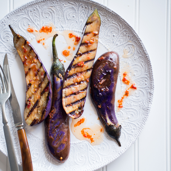 Chili Garlic Grilled Eggplant