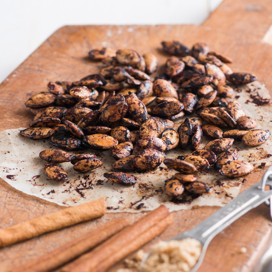 Cinnamon-Brown Sugar Pumpkin Seeds