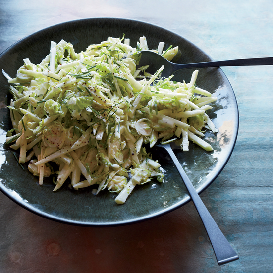 Double-Apple and Brussels Sprout Slaw