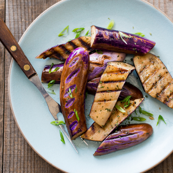 Garlic Herb Grilled Eggplant