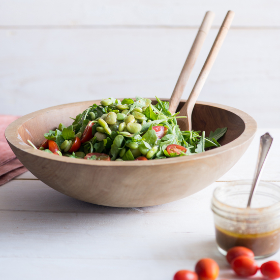 Lima Bean Arugula and Tomato Salad