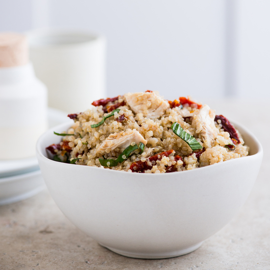 Quinoa and Chicken Salad with Sun-Dried Tomatoes