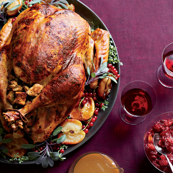 Roast Turkey with Chestnut-Apple Stuffing