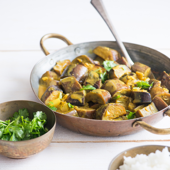 Seared Eggplant and Coconut Milk Curry