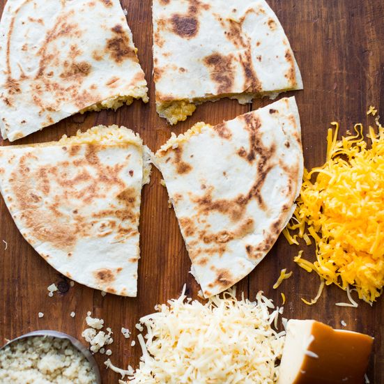 Smoked Gouda and Cheddar Quinoa Quesadillas
