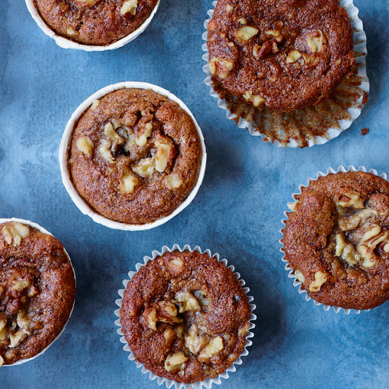 Vegan Banana-Walnut Muffins