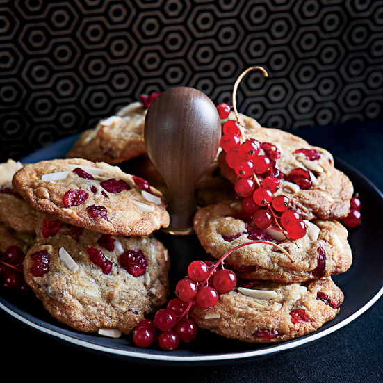 Big White Chocolate, Almond and Cranberry Cookies