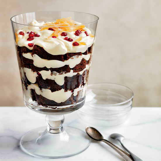 Gingerbread and White Chocolate Mousse Trifle