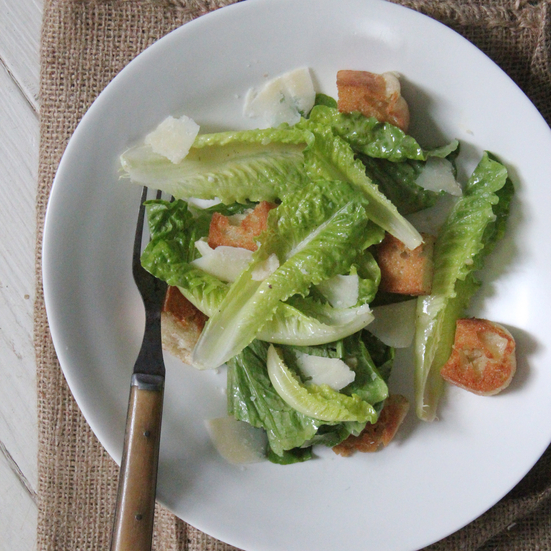 English Muffin Caesar Salad