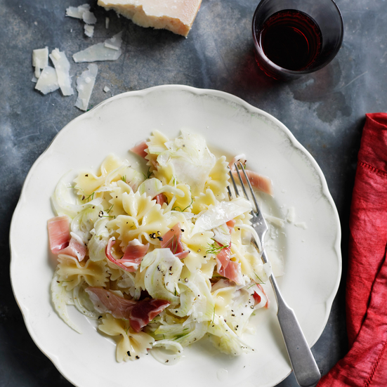 Bow-Tie Salad with Fennel, Prosciutto, and Parmesan