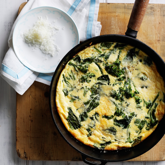 Broccoli-Rabe and Ricotta Frittata
