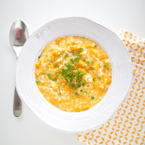 Butternut Squash Risotto with Goat's Milk Gouda
