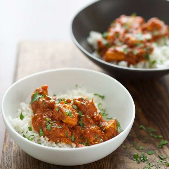 Chicken Curry with Tomato Yogurt Sauce