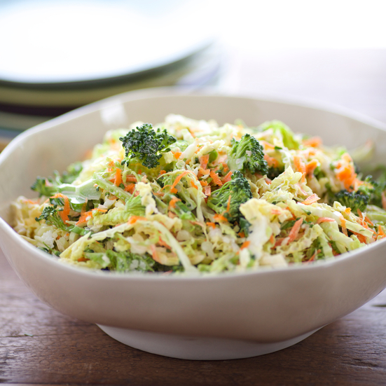 Creamy Cabbage and Broccoli Slaw