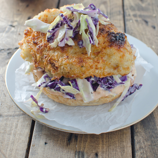 Crispy Chicken Burger with Coleslaw