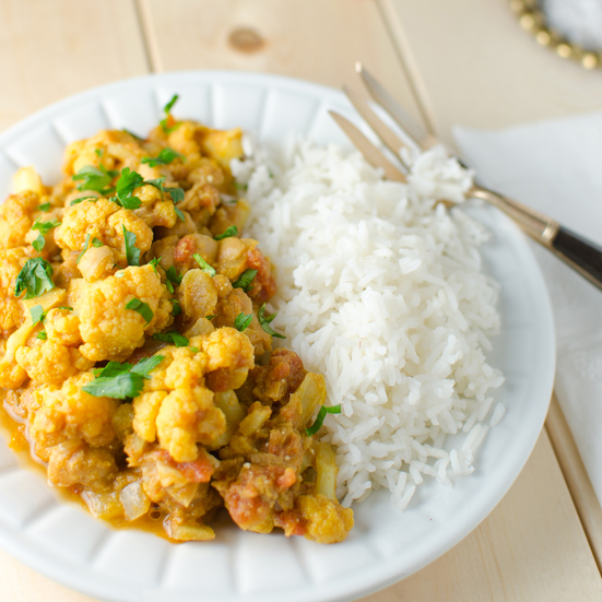 Indian Chickpea and Cauliflower Curry Recipe - Kristen Stevens | Food ...