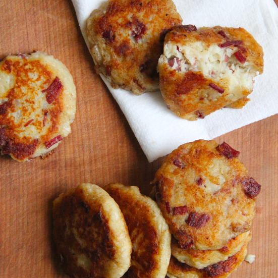 Irish Potato and Corned Beef Cakes