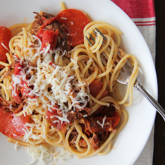 Meat Lovers' Pizza Spaghetti