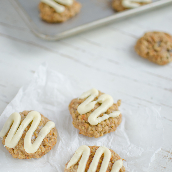 Oatmeal Carrot Cookies with Cream Cheese Frosting